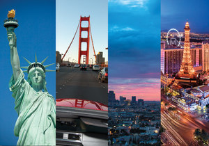 Cityhopping: New York, San Francisco, Los Angeles & Las Vegas mit Flug und Hotels