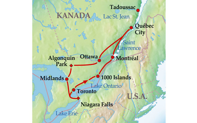 Montreal Altstadt Karte.Kanada Alaska 12 Tage Gruppenreise Eastern Explorer