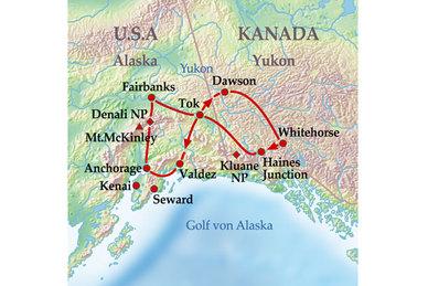 Golf Von Alaska Karte.Reisearten Gruppenreisen 15 Tage Gruppenreise Best Of