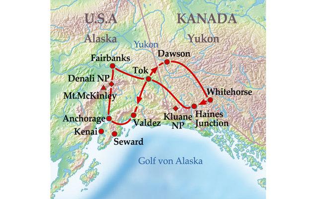 Polarkreis Alaska Karte.Kanada Alaska 15 Tage Gruppenreise Best Of Yukon Alaska