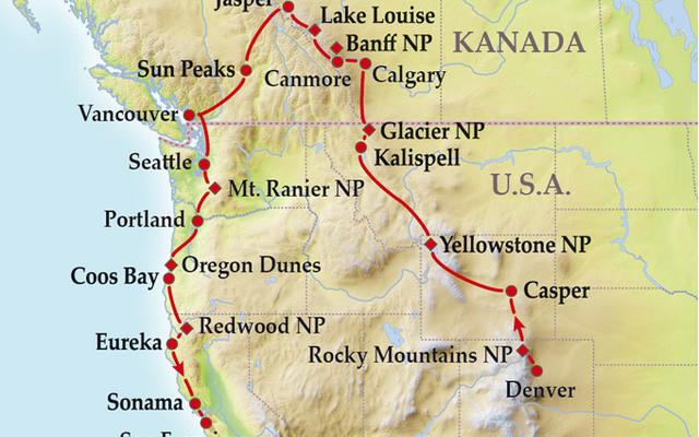 Usa Nordwesten 13 Oder 19 Tage Gruppenreise North By Northwest